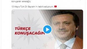 """Cumhurbaşkanı Erdoğan'dan """"Türk Dil Bayramı"""" paylaşımı: 'ülkemizin menfaatlerini ve mazlumların hakkını hep Türkçe savunduk'"""