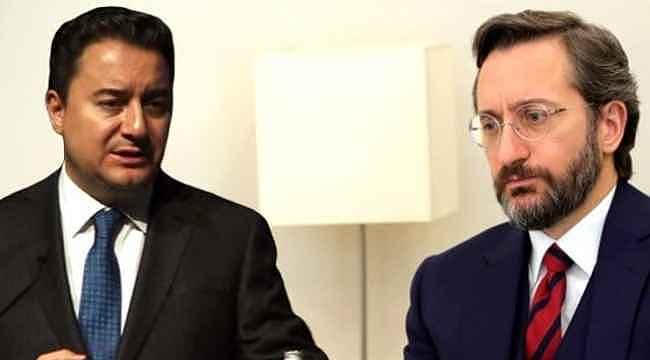 Fahrettin Altun, Ali Babacan'ın düşünce suçluları sözlerine isim vermeden yanıt verdi