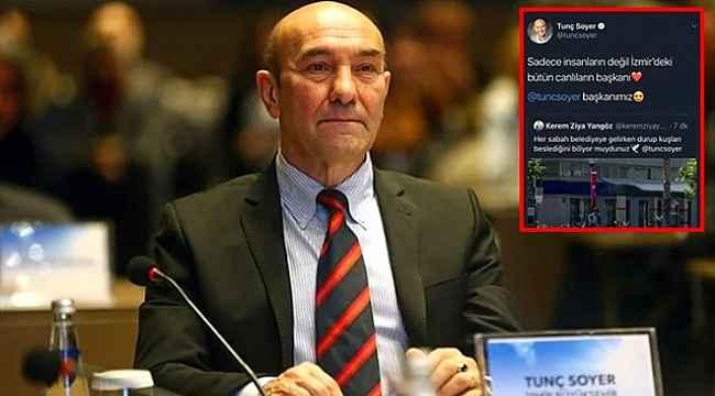 İzmir Büyükşehir Belediye Başkanı Tunç Soyer'in hesabından paylaşılan twit istifa getirdi
