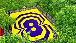 Kadıköy'de Kobe Bryant'ın anısına yapılan basketbol sahasını, dünyaca ünlü spor kanalı paylaştı