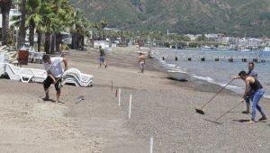 Marmaris'te işletmeler ve plajlar hazırlanıyor