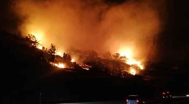 Mersin'de orman yangını: 3 hektar kızılçam ormanı zarar gördü