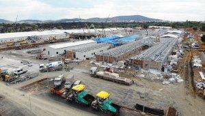 Sancaktepe'de yapımı devam eden pandemi hastanesi görüntülendi
