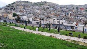 Şanlıurfa'da sosyal mesafeli namaz