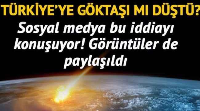 Türkiye'nin doğusuna düşen göktaşı bir çok kişi tarafından paylaşıldı! O anlar telefonla kaydedildi