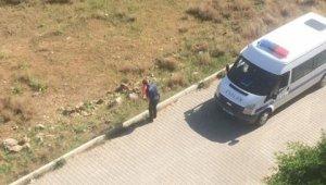 Vatandaş ihbar etti, yola düşen Türk bayrağını polis öpüp kaldırdı
