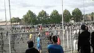 Yasa dışı maçı 400 kişi izledi, polis müdahale etti