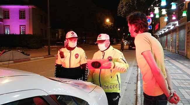 Yasağın başlamasıyla birlikte durdurulan otomobilde silah çıktı - Bursa haberleri