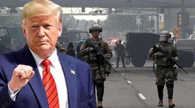 ABD Başkanı Trump: 'Orduyu devreye sokarım' tehdidinden geri adım attı!