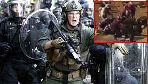 ABD'de bir kişi, aracıyla polis ve askerlerin arasına daldı: 3 kişi yaralandı