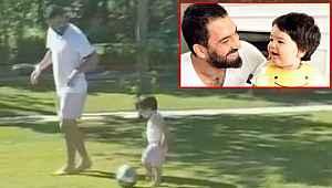 Arda Turan, oğluyla futbol oynadığı anları sosyal medyadan paylaştı