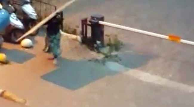 At arabalı 4 kadın hırsız önce kameraya ardından polise yakalandı
