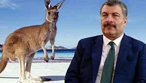 Bakan Koca'ya kangurulu sosyal mesafe hatırlatması