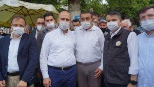 Bakan Soylu ve Pakdemir'li sel felaketi yaşanan Yenisölöz'de incelemelerde bulundu - Bursa Haberleri