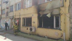 Bursa'da yangın çıktı daire küle döndü