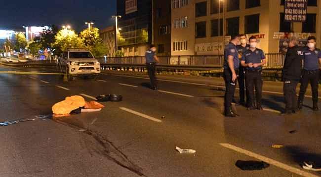 Büyükdere Caddesinde motosiklet kazası: 1 ölü