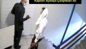Cerrahi maskeli hırsızlar güvenlik kamerasında