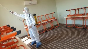 Cizre Belediyesi Kur'an kurslarını dezenfekte etti