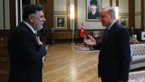 Cumhurbaşkanı Erdoğan, Fayiz Es-Serrac'ı kabul etti