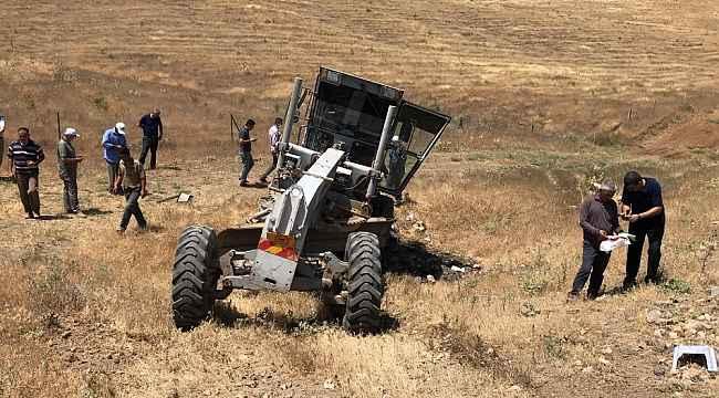 Elazığ'da tren, iş makinesine çarptı: 1 yaralı