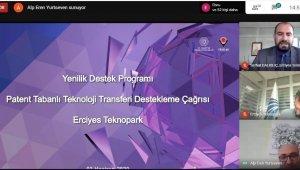 Erciyes Teknopark tarafından siparişe dayalı Ar-Ge Projeleri ve Patent Tabanlı Teknoloji Transferi Destekleme Programları ile ilgili bilgilendirme Webinarı düzenlendi