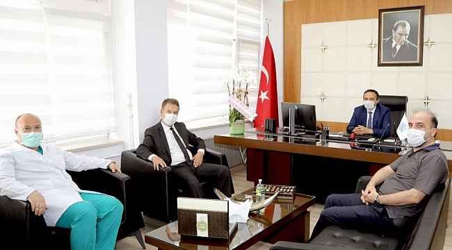 ERÜ Rektörü Çalış'tan, Hastaneler Başhekimi Taşdemir'e 'Hayırlı Olsun' Ziyareti