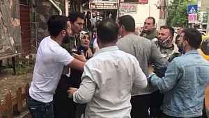 Eşiyle tartışan adamı çevrede toplanan vatandaşlar linç etmek istedi