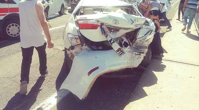 Fırat Köprüsü'nde zincirleme kaza: 4 yaralı