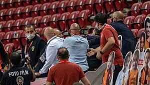 Galatasaray maçında boş tribünde kavga çıktı