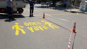 Güvenli ulaşım için trafik işaretlemeleri yenilendi