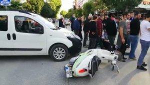 Hafif ticari araç ile motosiklet çarpıştı: 1 yaralı - Bursa Haberleri