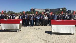 Hain saldırıda şehit düşen işçiler için tören