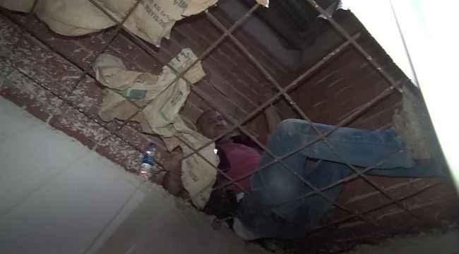 Hırsız polis kovalamacasında polis çatıdan düştü