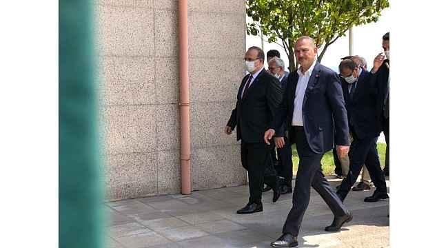 İçişleri Bakanı Soylu şehit cenazesi için Bursa'da