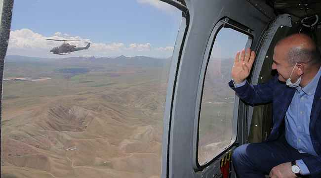 İçişleri Bakanı Süleyman Soylu, İran sınırında incelemelerde bulundu