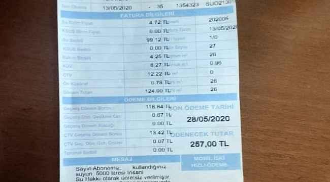 İGDAŞ'tan sonra şimdi de İSKİ'ye tepkiler başladı... CHP'li meclis üyesi faturaya isyan etti