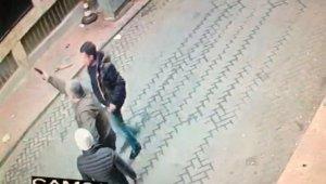 İstanbul'un göbeğinde dehşet anları kamerada