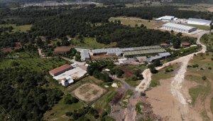 İYİ Partili Türkkan'ın kaçak yapı belirlenen çiftlik ve fabrikası havadan görüntülendi