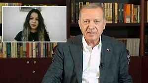 Kız öğrenci canlı yayında Erdoğan'a sordu,