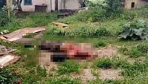 Komşusunu defalarca bıçakladıktan sonra balta ile vücudunu parçaladı