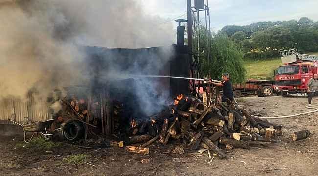 Kömür madeni sahasında yangın