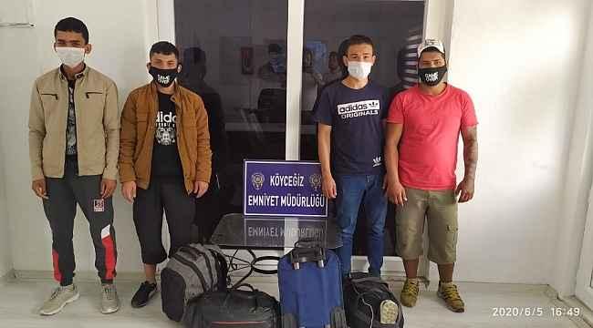 Köyceğizde düzensiz göçmen operasyonu