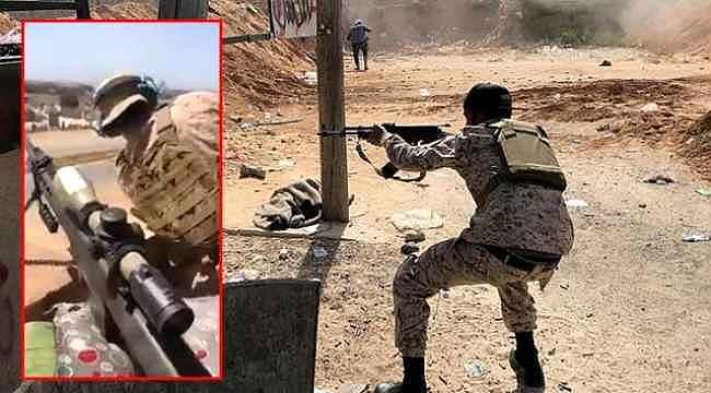 Libya'da Hafter'e bağlı milislerin pusuya düşürüldüğü görüntüler