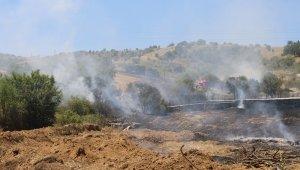 Makilik alanda çıkan yangın, ağaçlık alana sıçradı