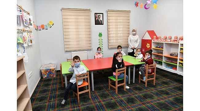 Mamak'ta oyun odaları minikler için hazırlandı