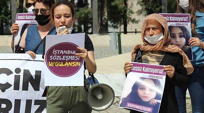 Manisalı kadınlar Ceren için sessiz kalmadı