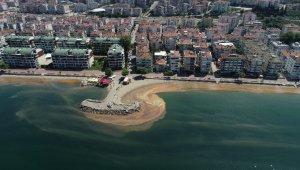 Marmara Denizi turuncuya boyandı...O anlar havadan görüntülendi - Bursa Haberleri