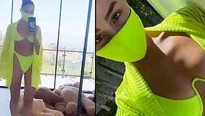 Maskeli bikini