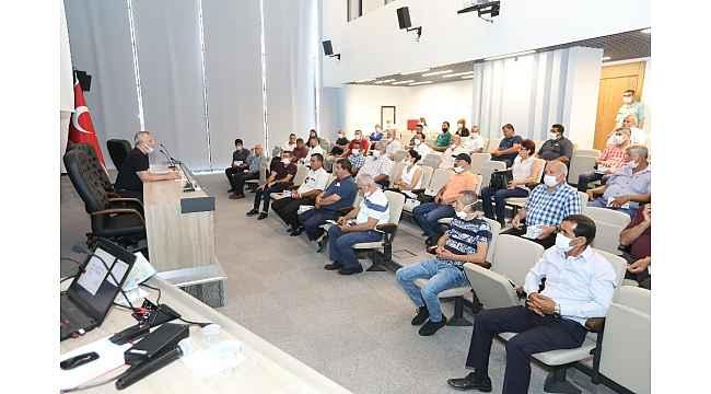 Mezitli Belediyesi, yaz yatırımlarını muhtarlarla birlikte planladı