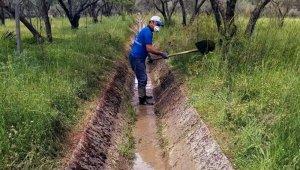 Muğla Büyükşehir sulama kanallarında bakım yaptı